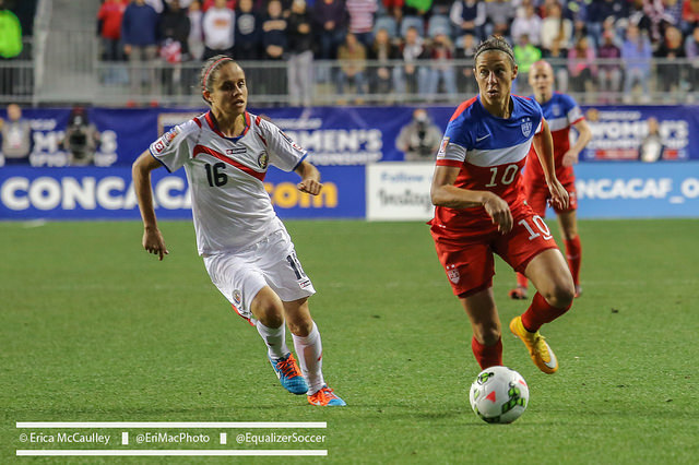 Carli Lloyd tallied five goals and four assists in the CONCACAF Women's Championship. (Photo Copyright Erica McCaulley for The Equalizer)