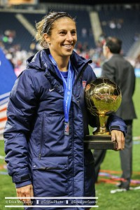 Carli Lloyd won the Golden Ball as the best player at the CONCACAF Women's Championship. (Photo Copyright Erica McCaulley for The Equalizer)