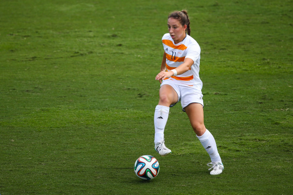 Carlyn Baldwin is foregoing her last year of eligibility to play professionally in Sweden (Photo By Andrew Bruckse/Tennessee Athletics)