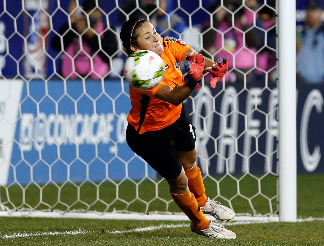 Dinnia Diaz saved three penalty kicks in the shootout to lift Costa Rica into the World Cup. (USA Today Images)