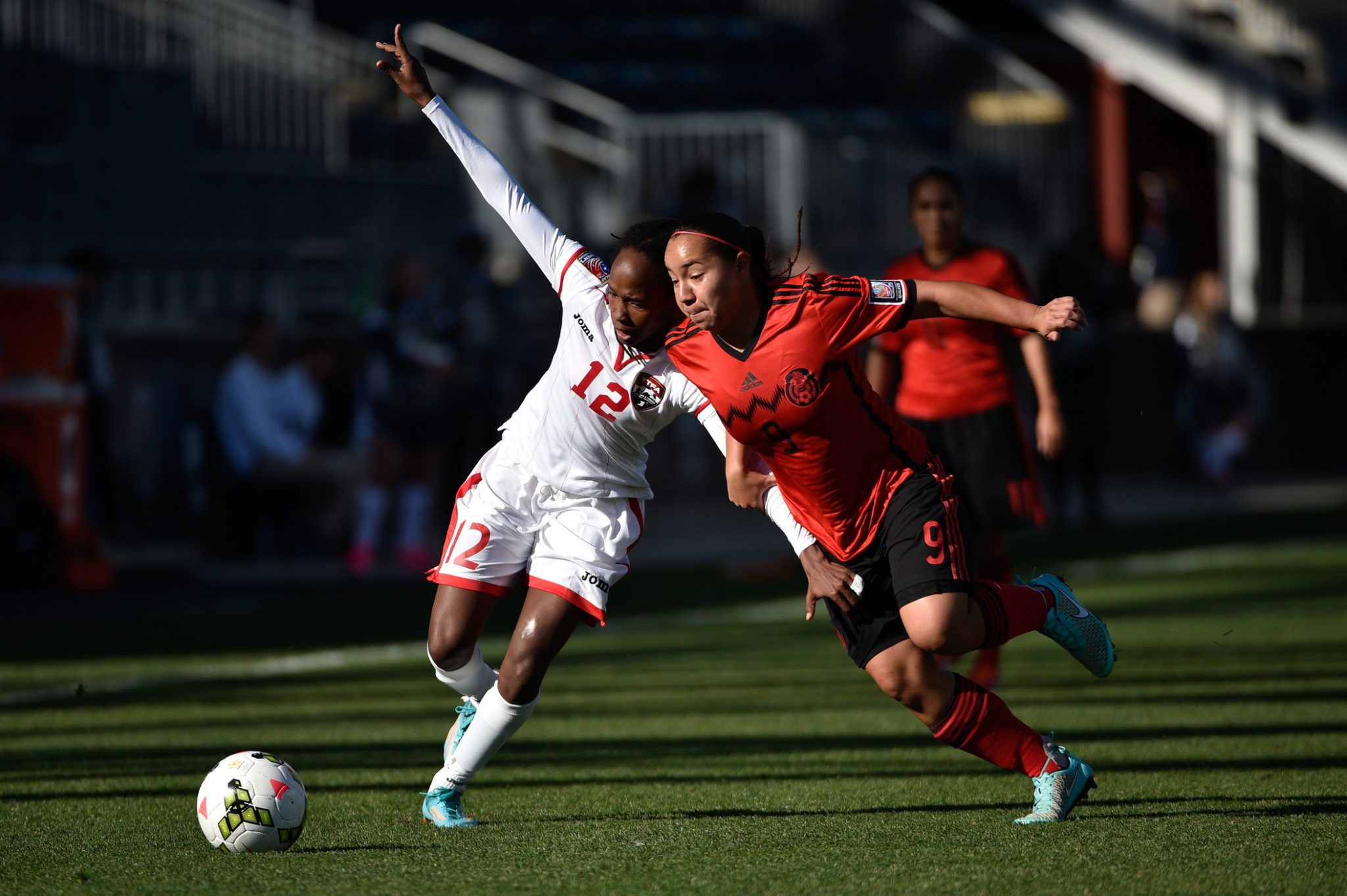 Charlyn Corral scored twice to lift Mexico to the World Cup. (USA Today Images)