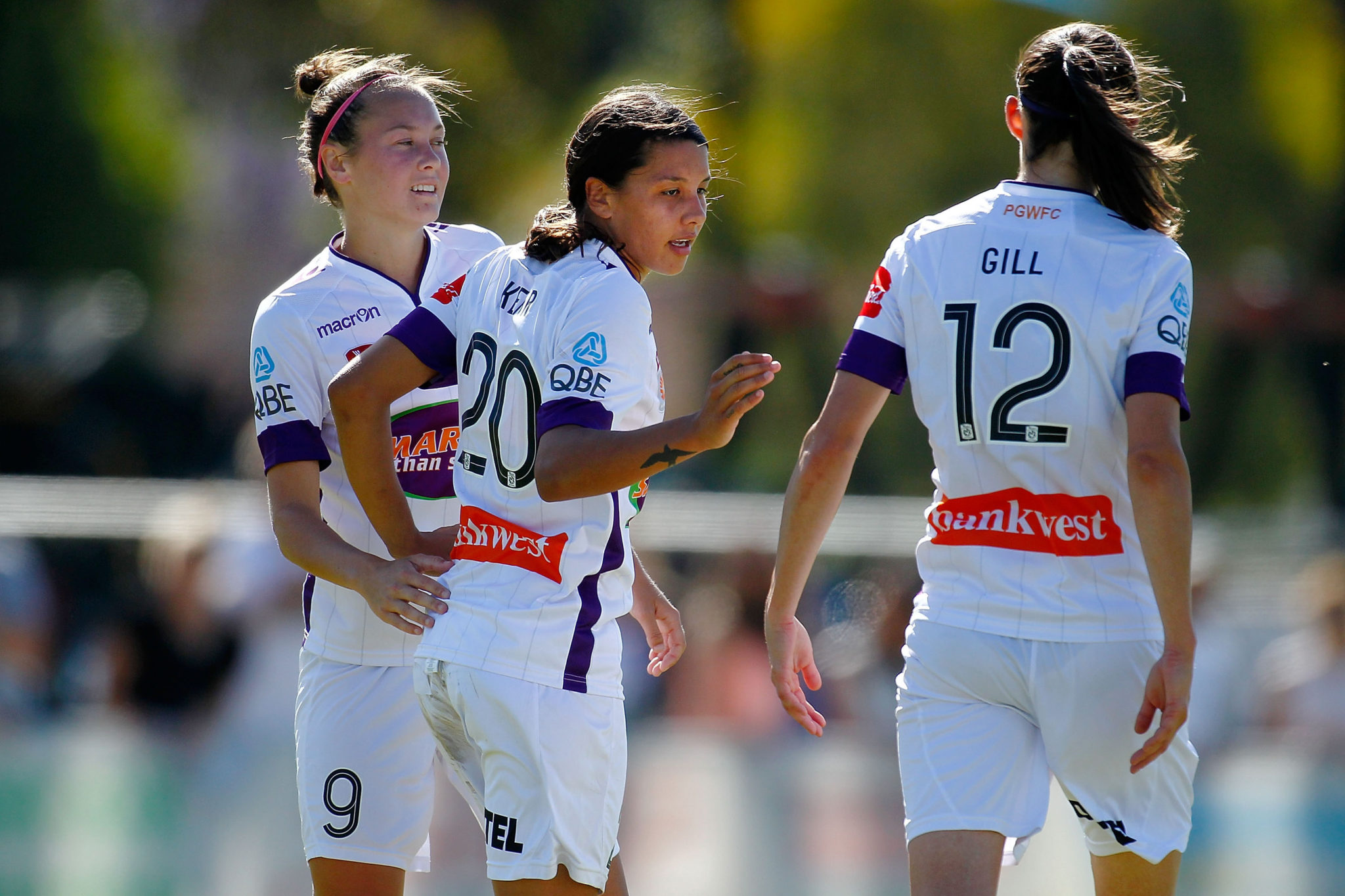 Sam Kerr scored twice as Perth kept rolling Down Under. (Getty Images)