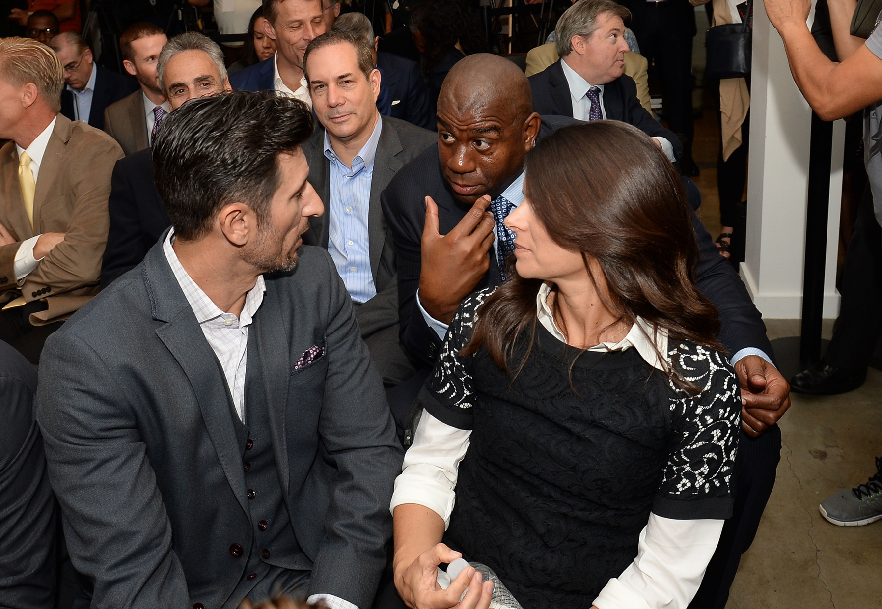Mia Hamm is part-owner of LAFC, along with husband Nomar Garciaparra and Lakers legend Magic Johnson. (USA Today Images)