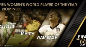 Keßler, Marta, Wambach FIFA Player of Year finalists