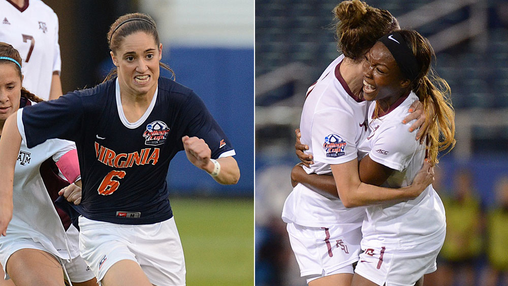 Either Virginia or Florida State will win its first NCAA title in women's soccer on Sunday. (USA Today Images)
