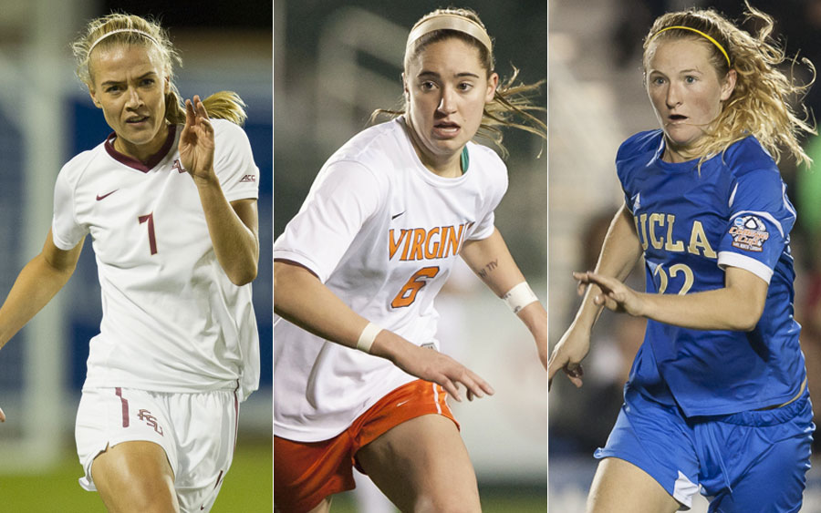 Dagny Brynjarsdottir, Morgan Brian and Sam Mewis (L-R) are the finalists for the MAC Hermann Trophy Award. (Photo Copyright Steve Bruno for The Equalizer)