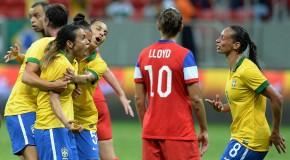 Marta hat trick sinks USWNT for 1st time under Ellis