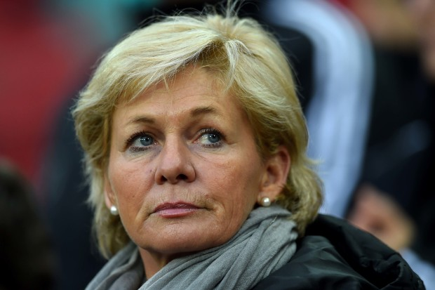 Known as one of the best dressed coaches in the women's game, Sylvia Neid can coach too, and her career ended with a gold medal. (Getty Images)
