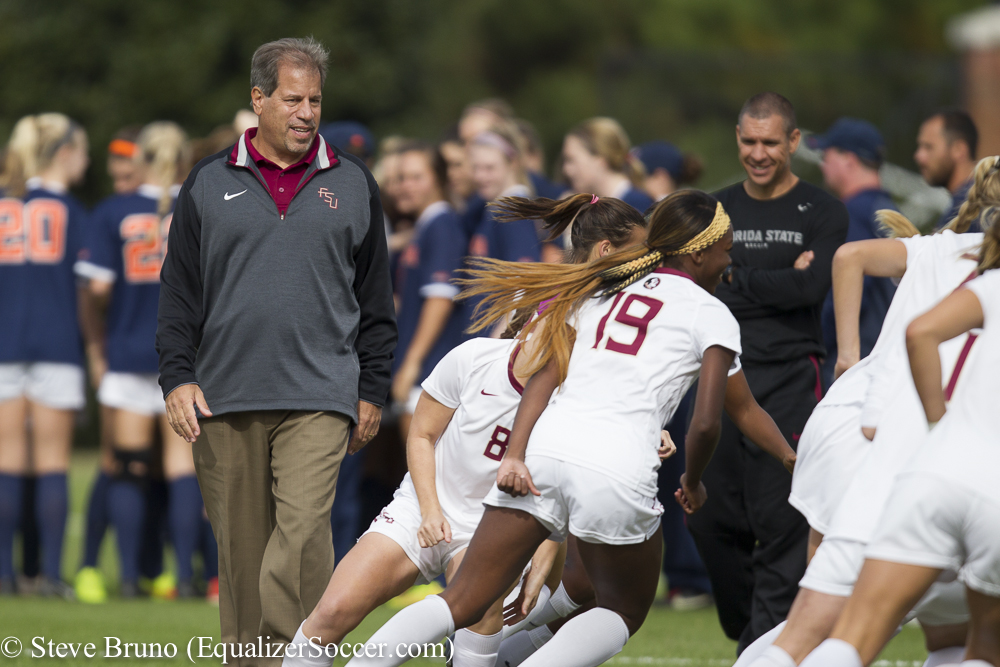 Florida State and coach Mark Krikorian are back at the College Cup looking to defend their NCAA title. (Photo Copyright Steve Bruno for The Equalizer)