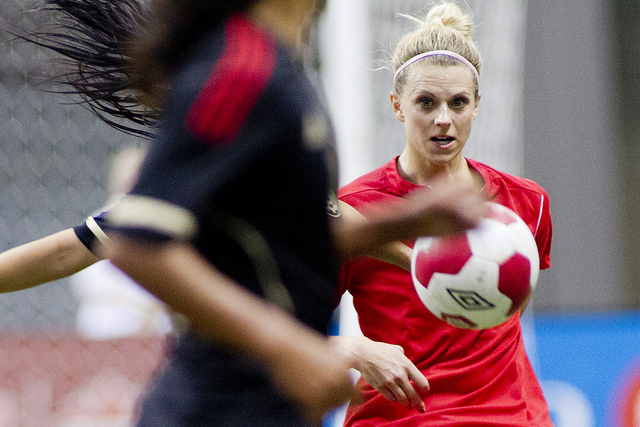 Lauren Sesselmann says she is close to returning to full contact. (Photo Courtesy Canada Soccer)