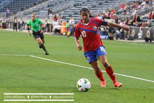 Costa Rican captain Shirley Cruz is set to be honored at Sunday's Costa Rica MNT match (photo copyright Erica McCaulley for The Equalizer)