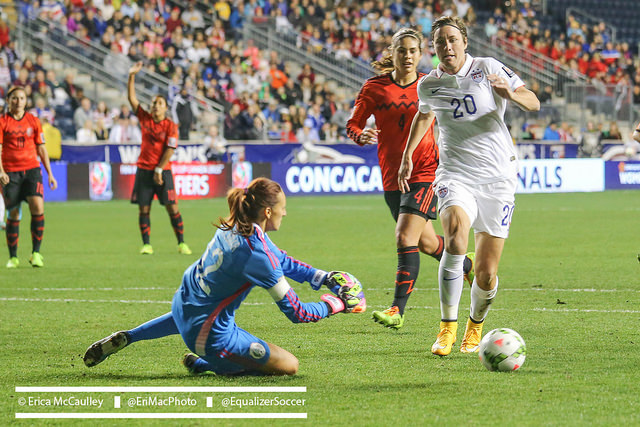 Advanced data shows that Abby Wambach's goal-scoring as a whole hasn't dropped off -- except for against the world best teams. (Photo Copyright Erica McCaulley for The Equalizer)