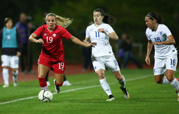 Adriana Leon, 19, is thriving for club and country after a stint in Switzerland. (Photo Courtesy Canada Soccer)