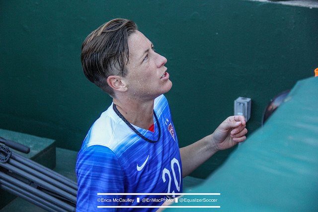 Abby Wambach says she'll decide on her playing future in the coming weeks. (Photo Copyright Erica McCaulley for The Equalizer)