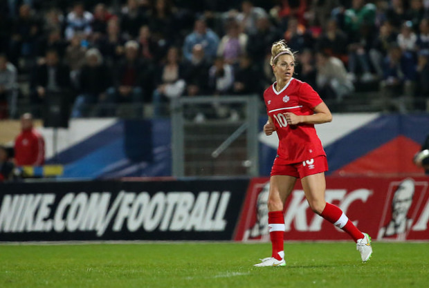 Lauren Sesselmann returned to the field for Canada on April 9 after a year out due to a torn ACL. (Photo: Canada Soccer)