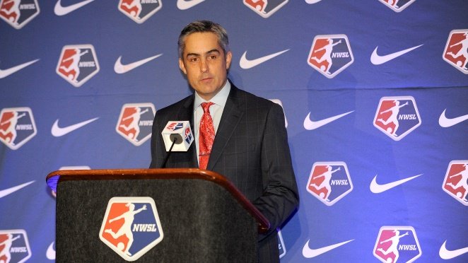 NWSL Commissioner Jeff Plush says setting the league championship in a predetermined destination, beginning this year with Portland, will help the NWSL. (Photo Courtesy NWSLsoccer.com)