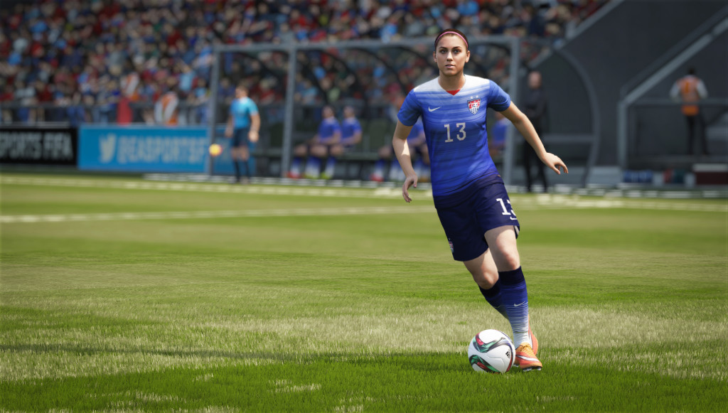 Alex Morgan in FIFA 16. (Photo Courtesy EA Sports)