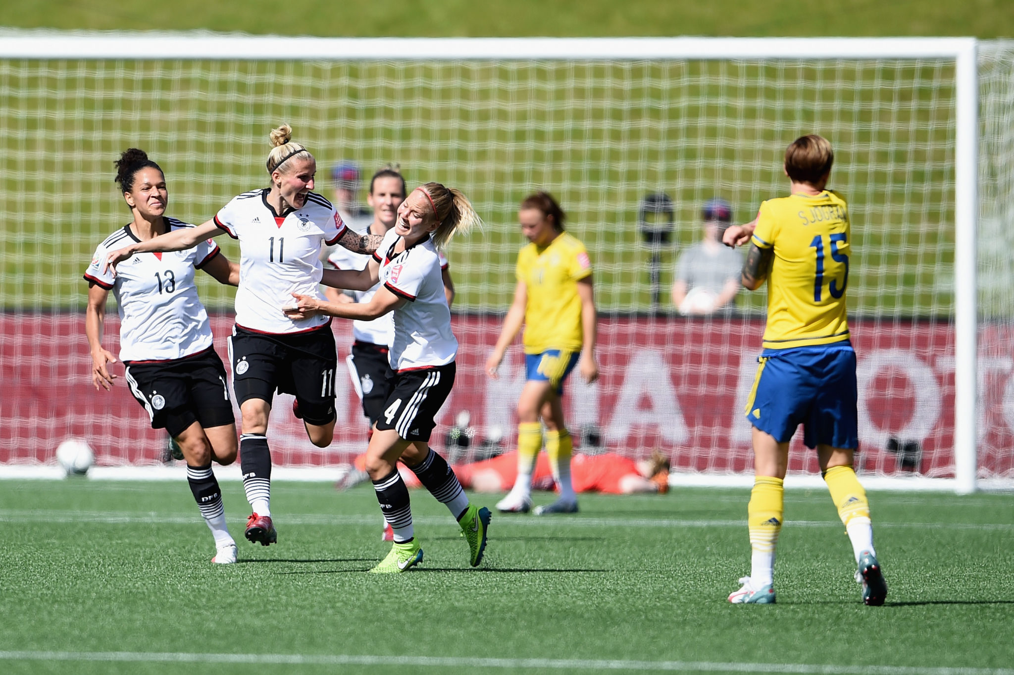 Unlike in the 2015 World Cup (pictured), Sweden managed to escape unbeaten in a competitive match against Germany. (Getty Images)