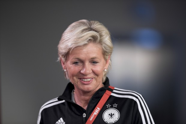 Just about the only thing missing from Sylvia Neid's treasure trove is an Olympic gold medal. (Getty Images)
