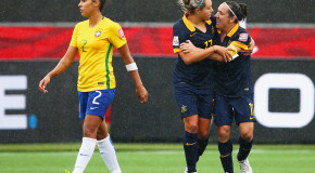 Australia shocks Brazil, advances to quarterfinals