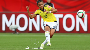 Colombia's Rincon ready to play her 'idol,' Lloyd