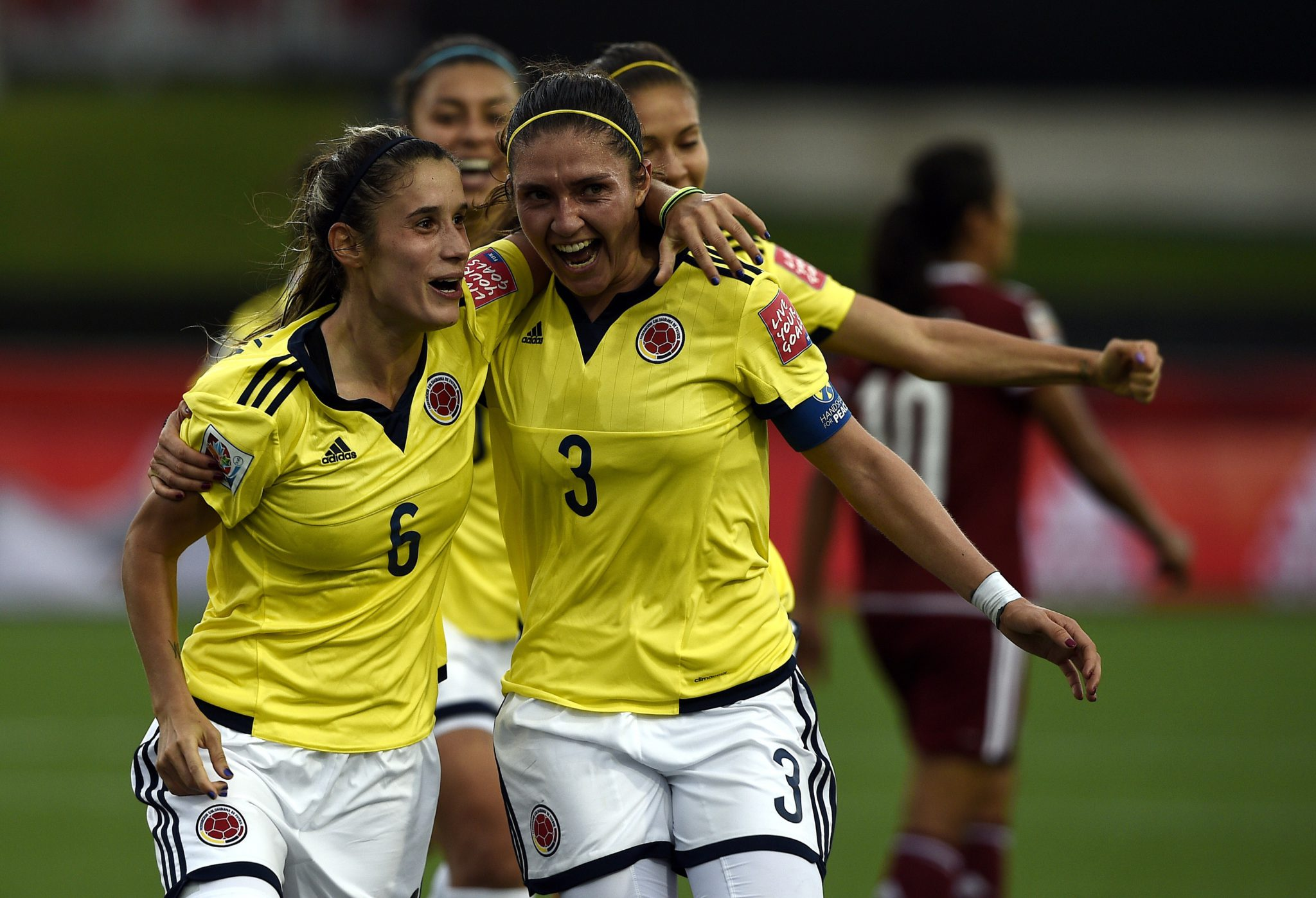 Daniela Montoya (#6) scored Colombia's first ever Women's World Cup goal. (Getty Images)