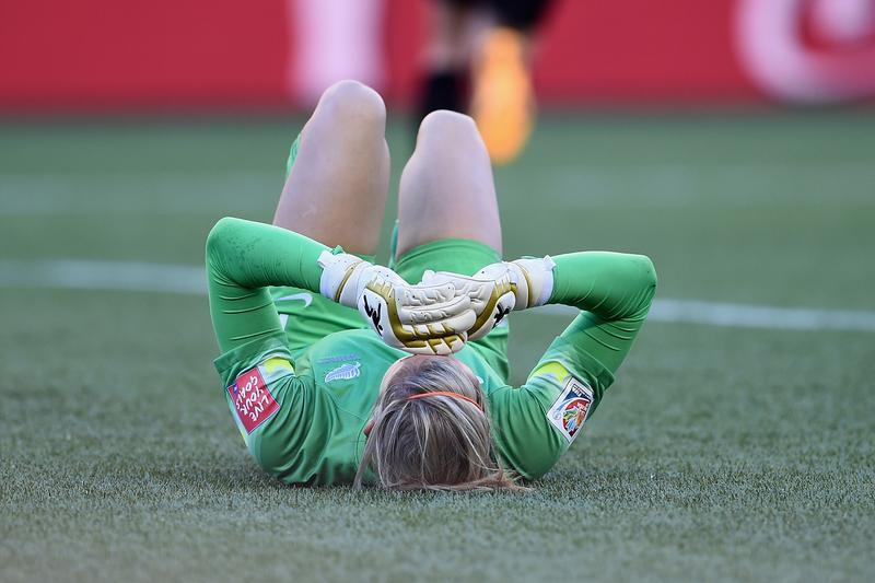Erin Mayer and New Zealand were crushed by 2-2 draw with China that ended their World Cup (Getty Images)