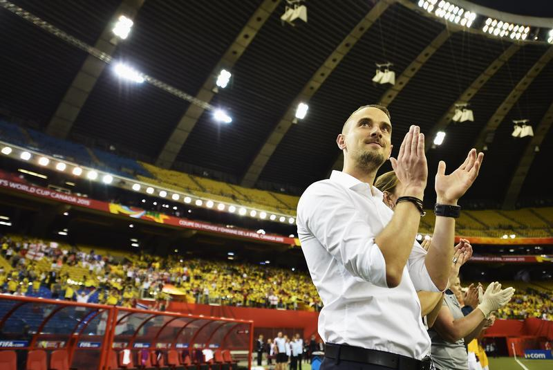 England manager Mark Sampson is pleased with how his side navigated Group F. (Getty Images)