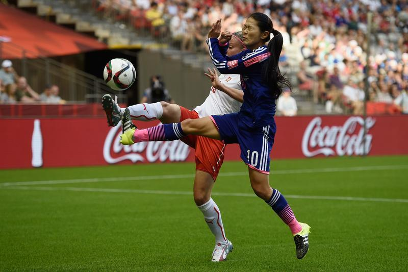 Homare Sawa began her 6th World Cup by helping Japan to a 1-0 win over Switzerland (Getty Images)
