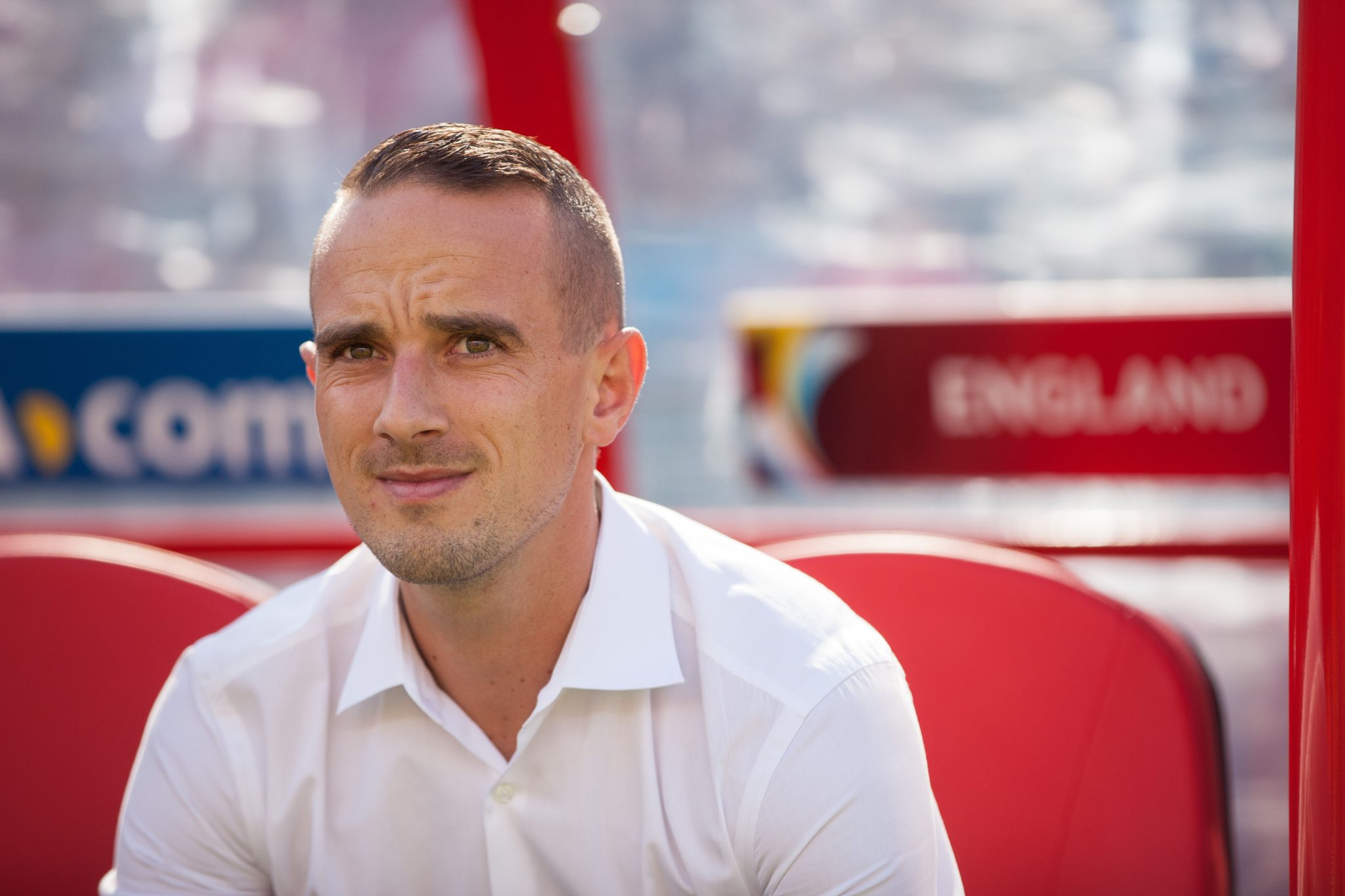 Mark Sampson and England qualified for Euro 2016, and they found out after a clerical error. (Getty Images)