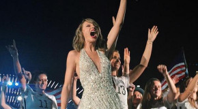 USWNT appears on stage at Taylor Swift concert