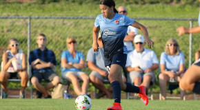 Sky Blue edge Pride on Sam Kerr magic