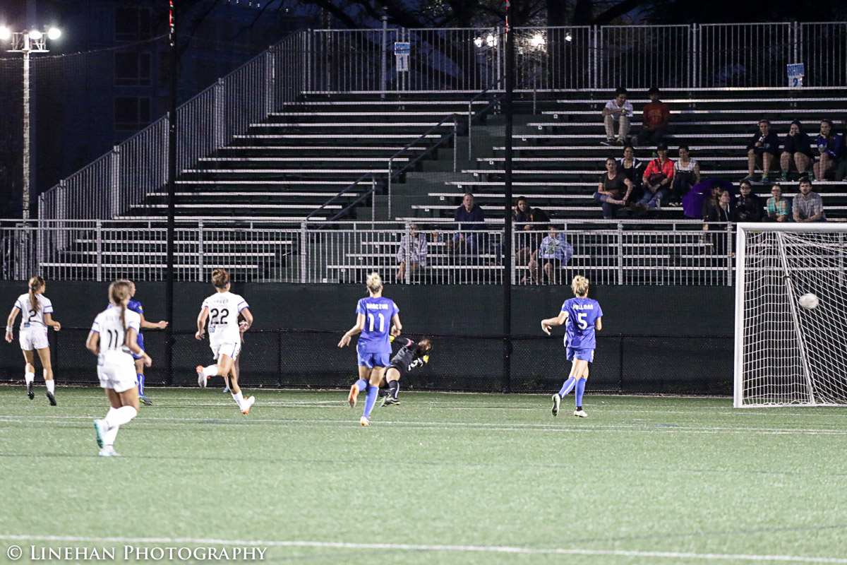 Shea Groom scores the game-winning goal against FC Kansas City. (Photo Copyright Clark Linehan for The Equalizer)