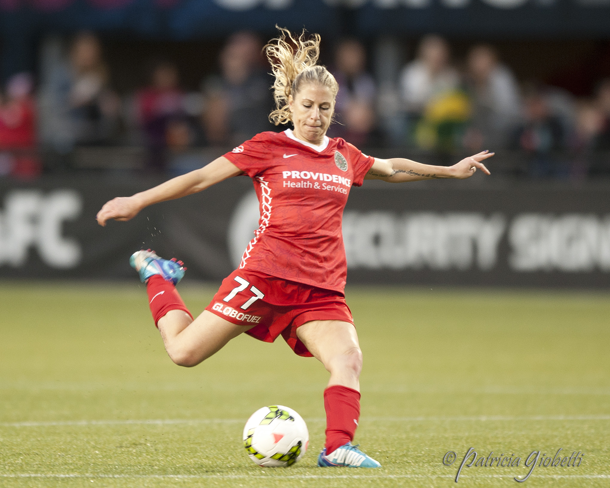 McCall Zerboni scored her first two Thorns goals just four minutes apart on Wednesday.  (Photo Copyright Patricia Giobetti for The Equalizer)