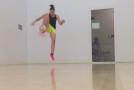 WATCH: Freestyler Indi Cowie nails 'three revolution'