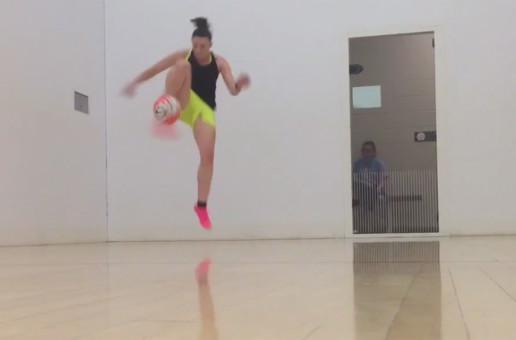 WATCH: Freestyler Indi Cowie nails 'three revolution'