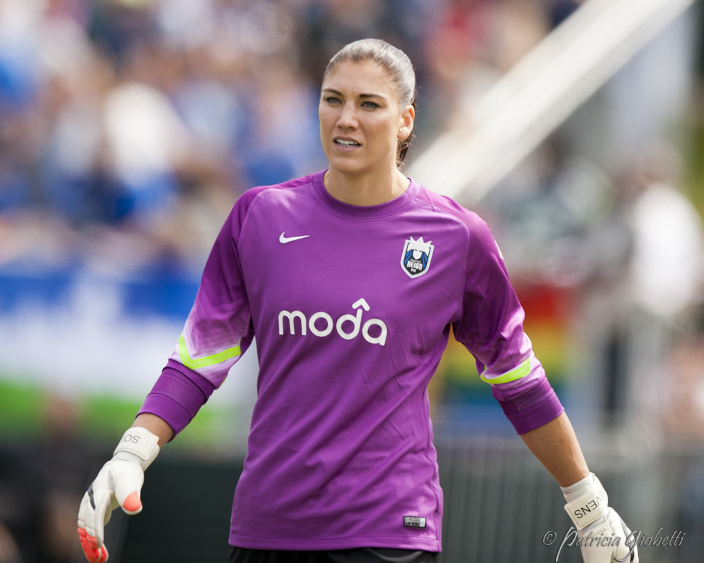 Hope Solo, Seattle Reign FC (Photo Copyright Patricia Giobetti for The Equalizer)