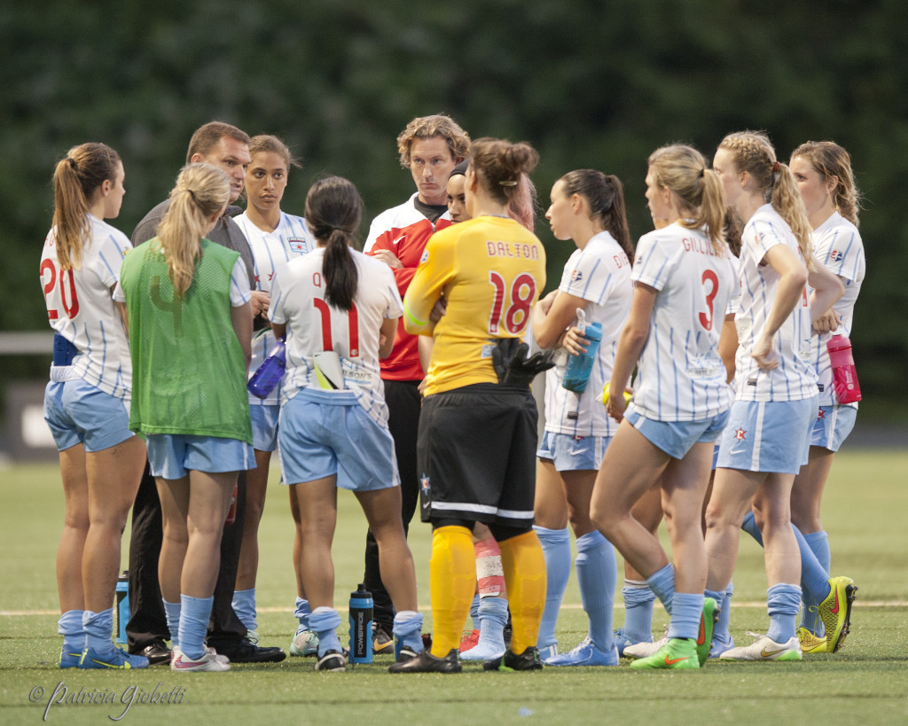 The Chicago Red Stars were among the first NWSL teams to embrace the fitness monitoring system, Fit For 90. All 10 NWSL teams will use the program in 2016. (Photo Copyright Patricia Giobetti for The Equalizer)