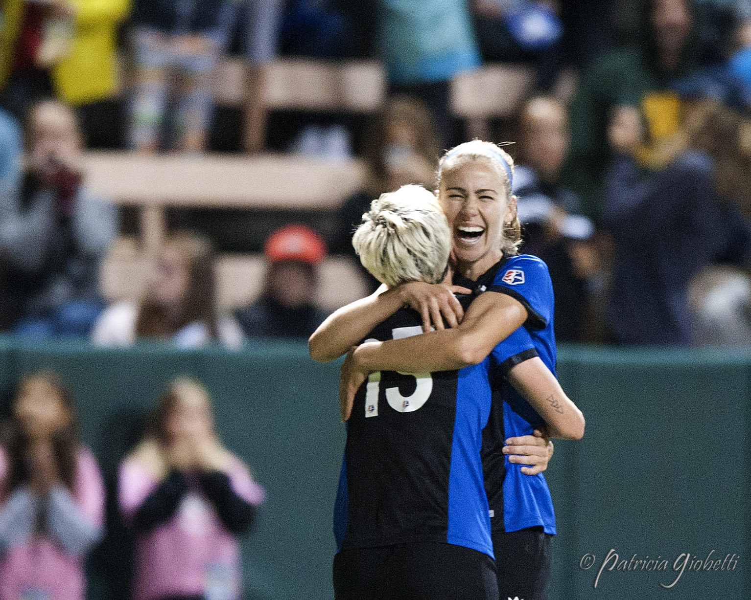Beverly Yanez and Megan Rapinoe both scored in the Reign's semifinal win over the Spirit. (Photo Copyright Patricia Giobetti for The Equalizer)