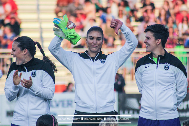 Hope Solo is not involved in CBA negotiations. It is not stopping her from speaking out as the deadline looms. (Photo Copyright Erica McCaulley for The Equalizer)
