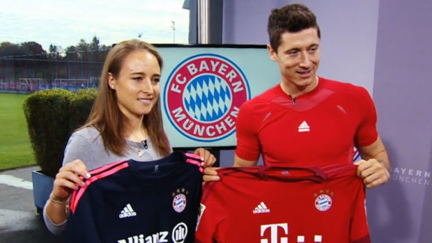 Gina Lewandowski, left, and Bayern Munich were dethroned as Germany champions but are still heading back to the Champions League.