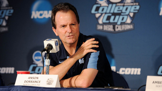 Astoundingly, Anson Dorrance's 800th career win at UNC came in his 900th game (Photo: UNC/goheels.com)