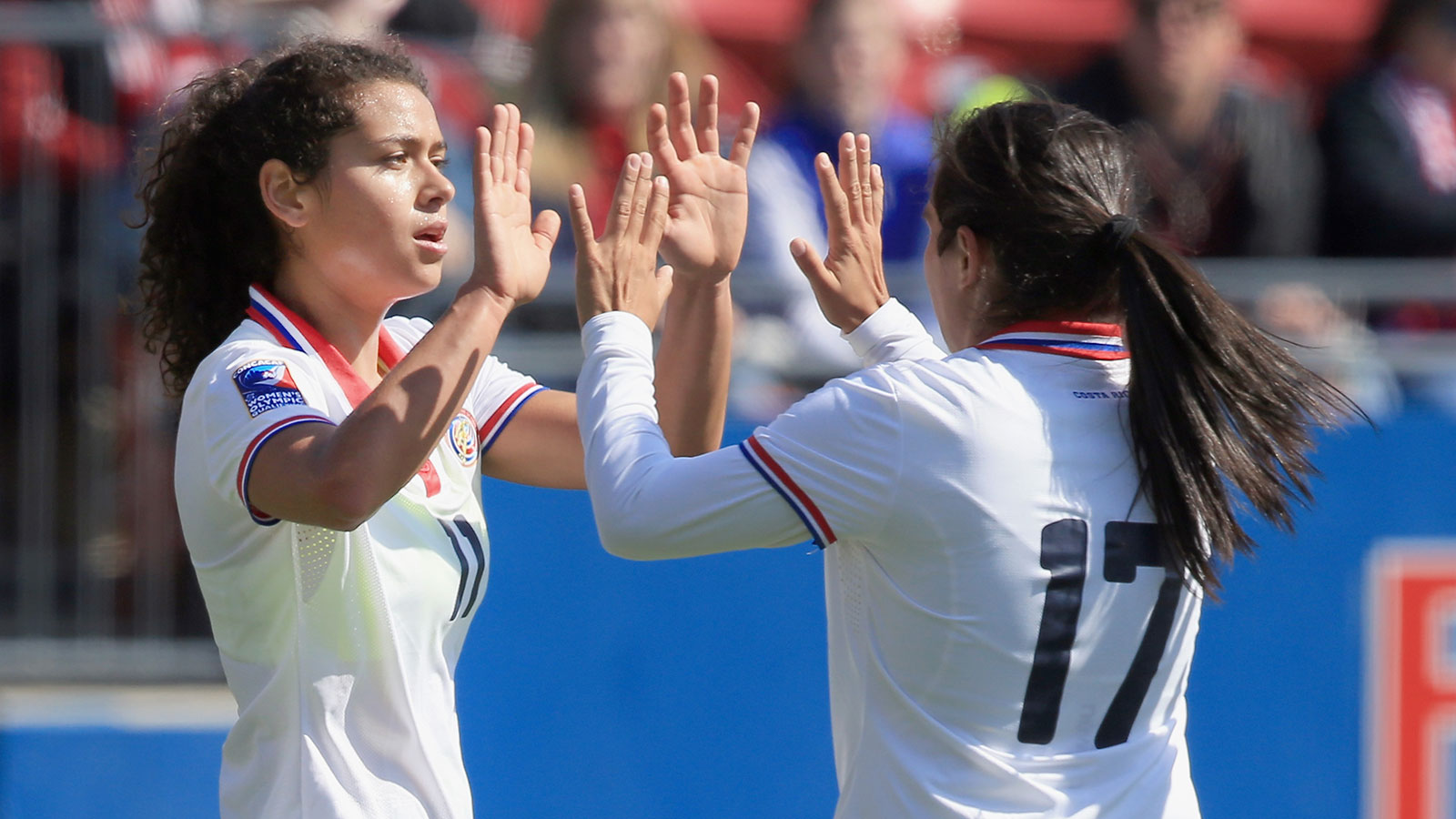 Raquel Rodriguez and Karla Villalobos each had a hat trick for Costa Rica. (Getty Images)