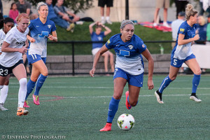 Kyah Simon is sitting out the 2017 NWSL season to undergo double shoulder surgery. (Photo Copyright Clark Linehan for The Equalizer)