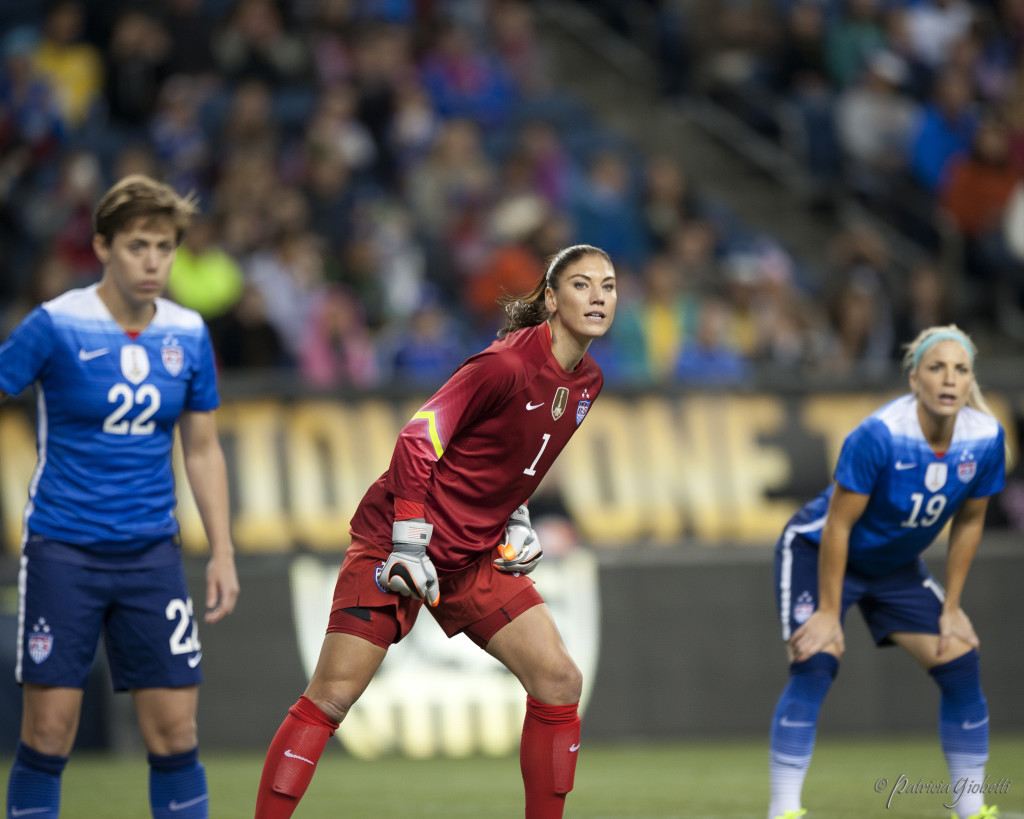"Hope Solo says USWNT games vs. Canada are always a ""bloodbath."" (Photo Copyright Patricia Giobetti for The Equalizer)"