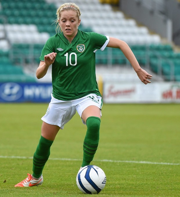 Denise O'Sullivan has signed with the Houston Dash as an international player. (photo: Football Association of Ireland)