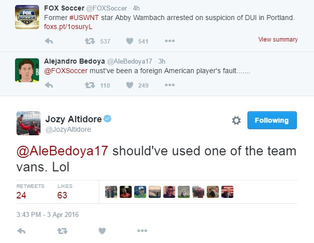 160403 Bedoya Altidore Wambach jokes