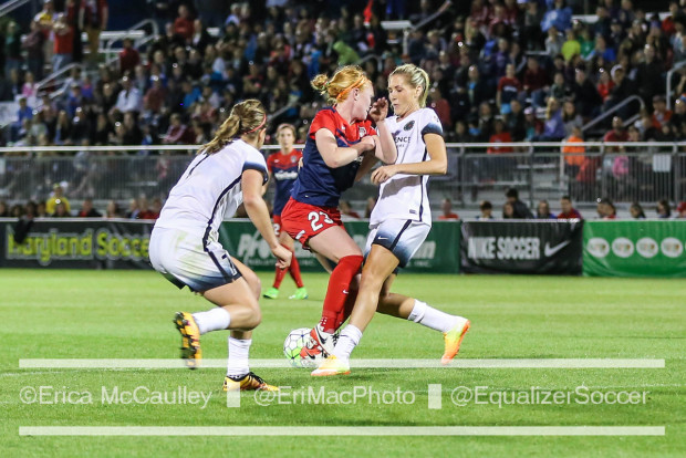 Both Thorns-Spirit matches this season have been quite physical (photo copyright EriMacPhoto for The Equalizer)