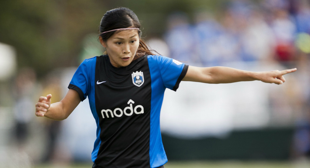 Japan forward Nahomi Kawasumi has signed with Seattle Reign FC, for whom she played in 2014. (Photo Copyright Patricia Giobetti for The Equalizer)