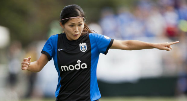 Nahomi Kawasum.i set an NWSL record on Saturday with 4 assists. (Photo Copyright Patricia Giobetti for The Equalizer)